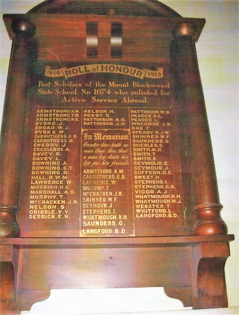 Blackwood honour board